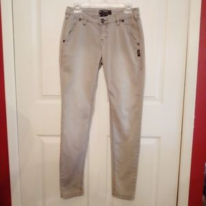 Silver Jeans Gwen Chino embroidered grey pants